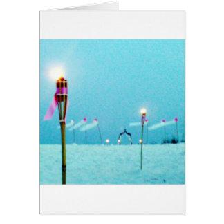 結婚式の郵便料金のビーチ場面 カード