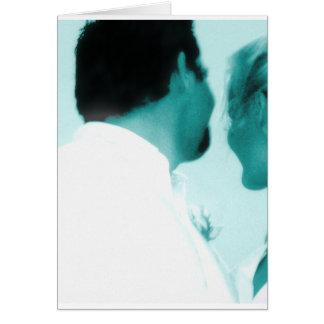 結婚式の郵便料金の花嫁の新郎 グリーティングカード