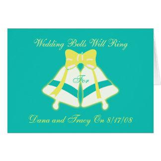 結婚式の鐘鳴ります カード