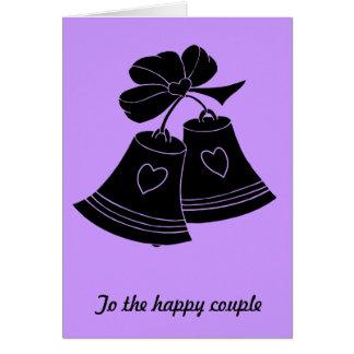 結婚式の鐘、薄紫 カード
