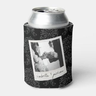 結婚式のInstagramの写真レトロフレームの習慣の文字 缶クーラー