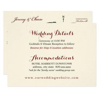 結婚式はエンクロージャカード披露宴の地図を詳しく述べます カード
