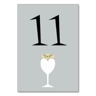 結婚式はワイングラスのテーブル数カードを選抜します カード