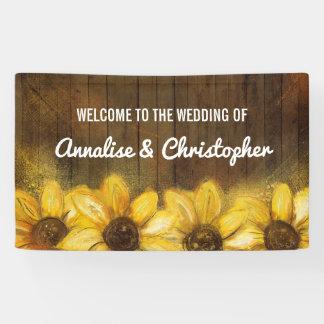 結婚式への木|歓迎のヒマワリ 横断幕