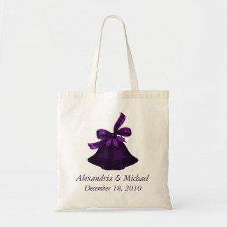 """""""結婚式またはクリスマス鐘""""の-豊富で王室のな紫色 トートバッグ"""