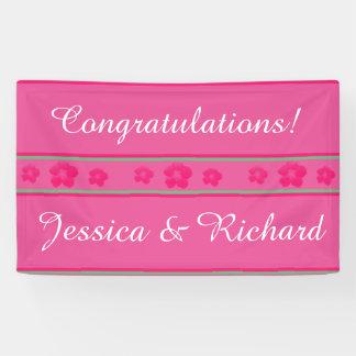 結婚式または婚約パーティの旗の明るいピンク 横断幕