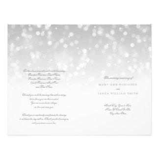 結婚式プログラムの銀製の《写真》ぼけ味の輝きライト チラシ