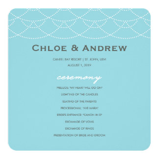 結婚式プログラム|の波 13.3 スクエアインビテーションカード