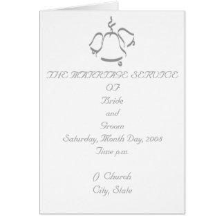 結婚式プログラム グリーティングカード