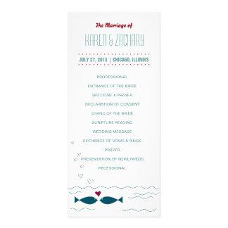結婚式プログラム ラックカード