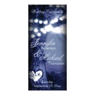 結婚式プログラム 夜木w/Partyライト ラックカード