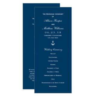 結婚式プログラム 海軍航海のないかり カード