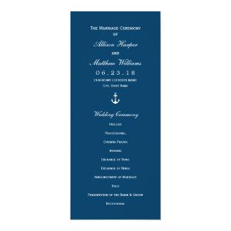 結婚式プログラム|海軍航海のないかり 10.2 X 23.5 インビテーションカード