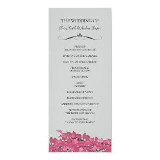 結婚式プログラム 10.2 X 23.5 インビテーションカード