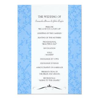 結婚式プログラム 12.7 X 17.8 インビテーションカード