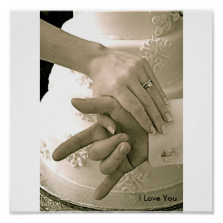 """結婚式ポスター""""私は愛します"""" ポスター"""