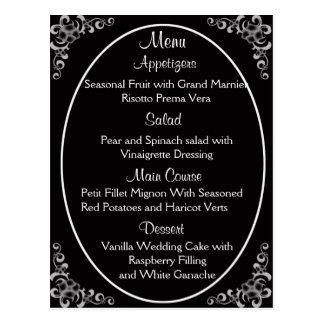 結婚式メニューカード 葉書き