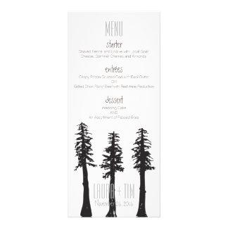 結婚式メニューレッドウッドの木 ラックカード
