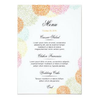 結婚式メニュー カード