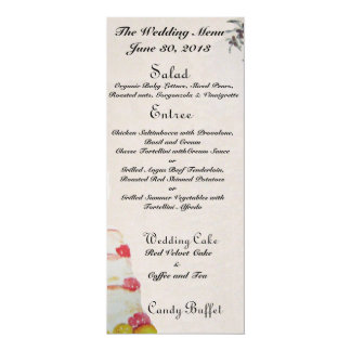 結婚式メニュー 10.2 X 23.5 インビテーションカード