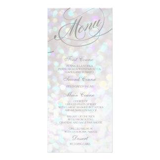 結婚式夕食メニューカード銀の《写真》ぼけ味ライト オリジナルラックカード