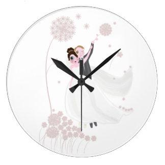結婚式愛 ラージ壁時計