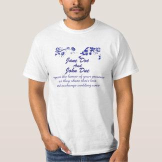 結婚式招待状のワイシャツ Tシャツ