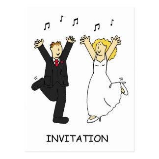 結婚式招待状の新郎新婦 ポストカード