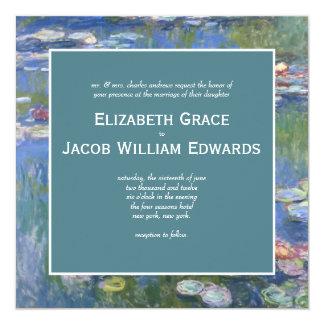 結婚式招待状の//Monetの《植物》スイレン カード