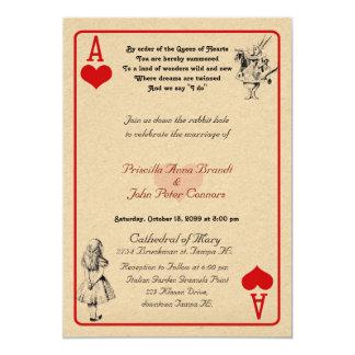 """結婚式招待状カード""""不思議の国"""" As5x7のアリス カード"""