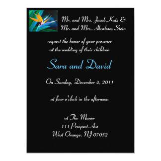結婚式招待状極楽鳥 カード