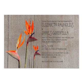 結婚式招待状素朴な極楽鳥 カード