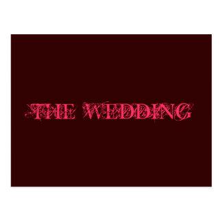 結婚式招待状 ポストカード