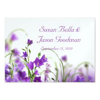 結婚式招待状--紫色によっては地平線が開花します カード