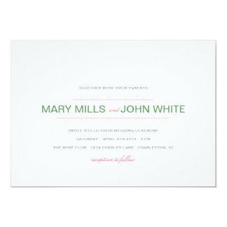 結婚式招待状  12.7 X 17.8 インビテーションカード