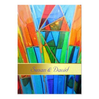 結婚式招待状--Muranoのガラスオレンジ カード