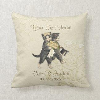 結婚式猫あなたのカスタムな文字 クッション