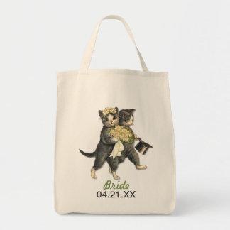 結婚式猫 トートバッグ