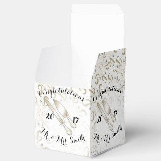 結婚式箱のクラシック2x2 フェイバーボックス