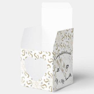結婚式箱のハート2x2 フェイバーボックス