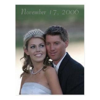 結婚式、2006年11月17日 ポストカード