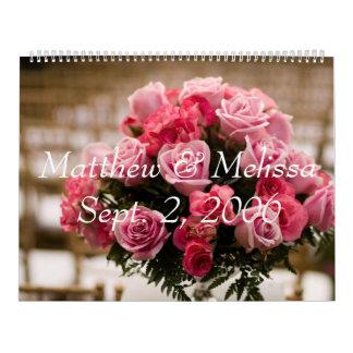 結婚式、Matthew及びMelissa 2006年9月2日のgraduati カレンダー