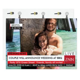結婚式BBQの最新ニュース専門にされたTVのグラフィック カード