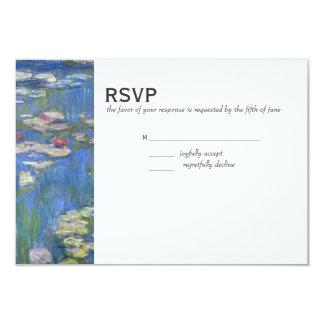 結婚式RSVP //Monetの《植物》スイレン カード