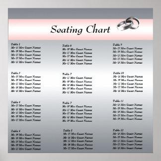 結婚披露宴の座席の図表ポスター ポスター
