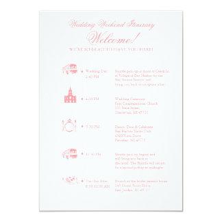 結婚披露宴の旅程のタイムライン カード