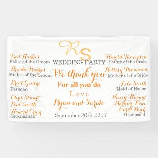結婚披露宴の旗 横断幕