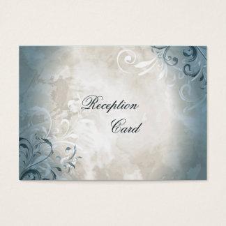 結婚披露宴カードエレガントなヴィンテージの群葉 チャビ―名刺