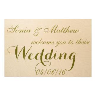 結婚披露宴木キャンバスへの歓迎 ウッドウォールアート