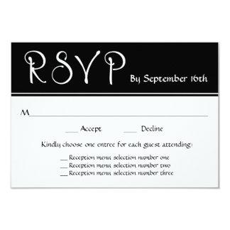 結婚披露宴RSVP 3メニュー選択の応答 カード